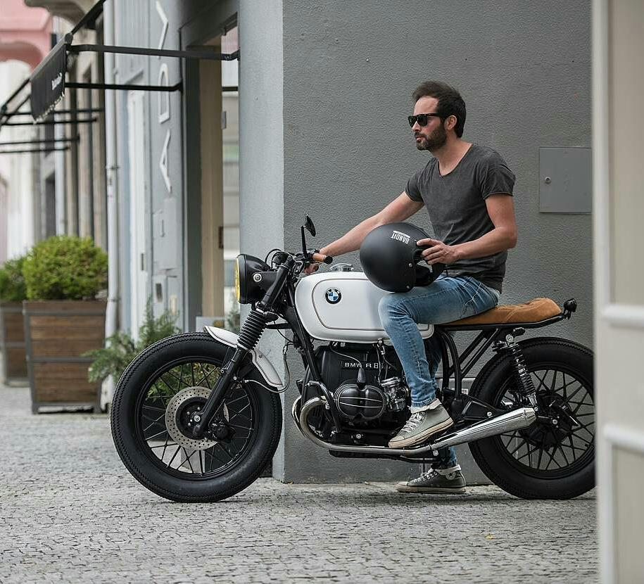 By @banditgarageportugal -  Sometimes we like to keep it simple! 😉 #BMW R80 by Bandit Garage .  #caferacer #caferacers #caferacerstyle #caferacersculture #caferacerbuilds #vintage #vintagestyle #vintagefashion #motocycle #moto #motos #motorcycles #oldstyle #oldschool #bratstyle #motorbike #motor #helmet