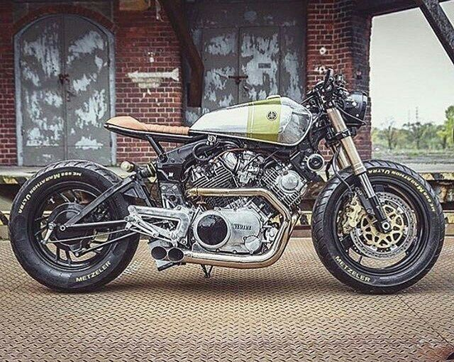 By @wastelandmoto -  Beautiful XV920 by @uglymotors spotted on @pipeburn