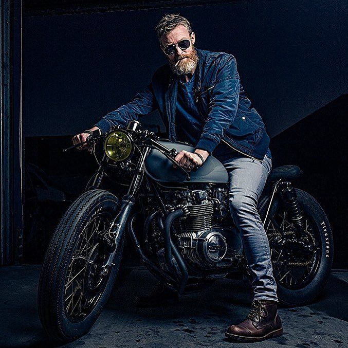 "By @gentsandpirates ""I think best when I have a wrench in my hands"" – Soichiro Honda .. Shot for @gentsandpirates by @bashermsenfotografie & built by @arjanvandenboom, Ironwood Custom Motorcycles"