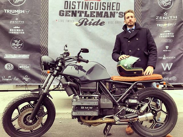 @thomas_i_mtl and his BMW k75 in the Distinguished Gentleman's Ride 2018 from Montreal