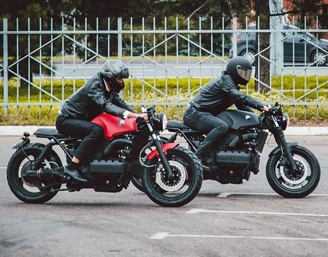 Double vision by @motolabsrus BMW k100