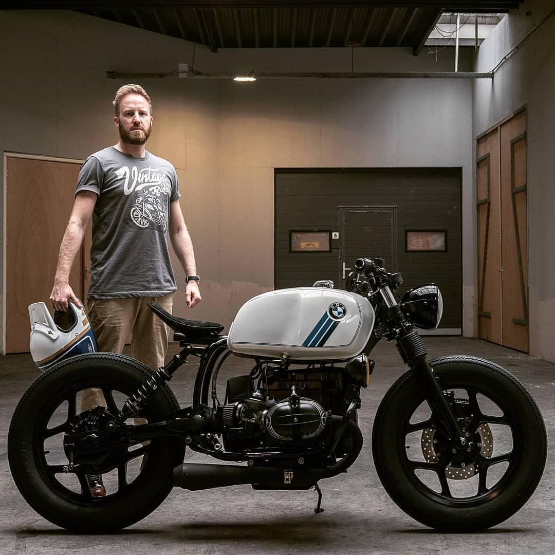 @paul_vanml with a BMW R80 by @arjanvandenboom