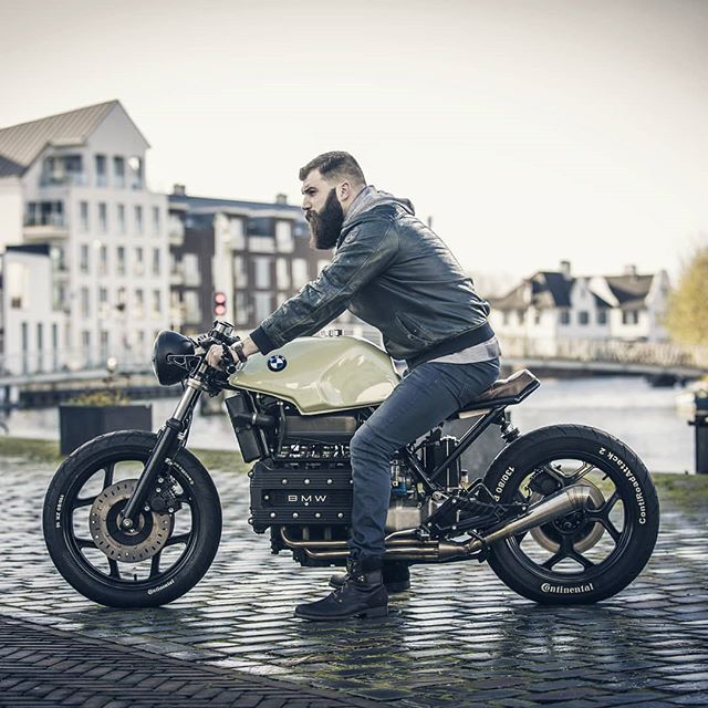 @tristan.ris on a BMW K 100 built by @arjanvandenboom  Photo by @ibass93