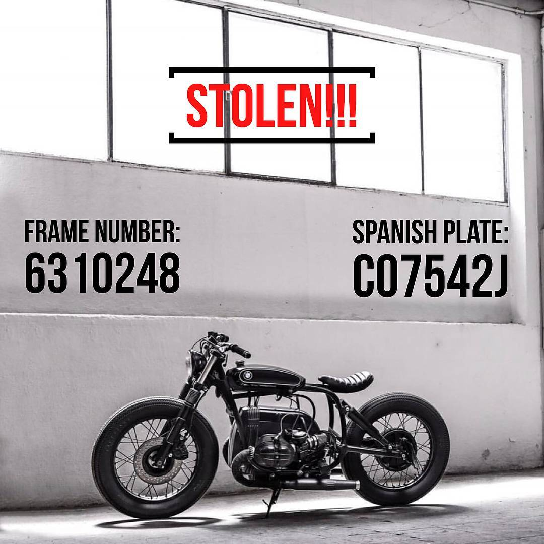 Attention rides!! Let's go to help with valid information to @caferacerdreams in this horrible moment… Good luck 🙏💪 . . . WE'VE BEEN STOLEN. Last night 8/2 someone came into our garage located in Paracuellos de Jarama, Madrid, Spain and took with them a total of 8 CRD bikes and a red Porsche 356. The whole team is in disbelief. We are asking for your help in this search. Any valid information will be HIGHLY REWARDED. Please make sure to contact us through DM if you know anything. These are bikes that were built uniquely and on the way to clients, so they are easy to identify. Please tag as many people as you can and repost to help us go viral. CRD is committed to getting them back and finding the people behind this. Thank you so much in advance from the whole team. (Link in bio) • NOS HAN ROBADO  Ayer día 8 de Febrero alguien entró en nuestro taller de Paracuellos del Jarama, provincia de Madrid, y robó 8 motos y un Porsche 356. Todavía no nos podemos creer que haya sucedido esto.Pedimos vuestra colaboración para solucionarlo. Se recompensará cualquier tipo de información que nos pueda ayudar. Por favor mandadnos un mensaje privado o un email si sabéis algo.Estas motos son únicas y fácilmente identificables. Ayudadnos a que esta noticia se vuelva viral compartiendo y etiquetando al mayor número posible de personas.Todo el equipo de CRD está decidido a recuperarlas y a encontrar a quien ha hecho esto. Os agradecemos enormemente vuestra colaboración. (Link en bio